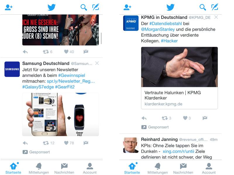 Social-Media-Overload: Gesponserte Beiträge nehmen Überhand. Bildquelle: Eigener Screenshot