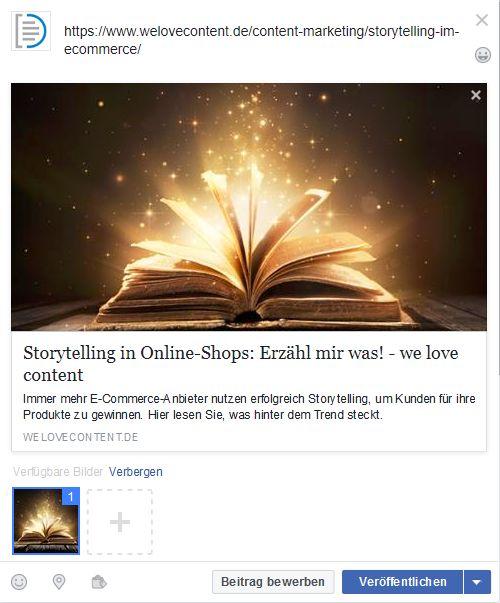 Ein Beispiel für einen Post mit Social Meta-Tags.