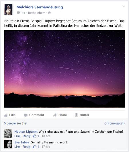 Melchior Facebook nachher Mehrwert