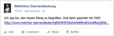 Melchior Facebook vorher