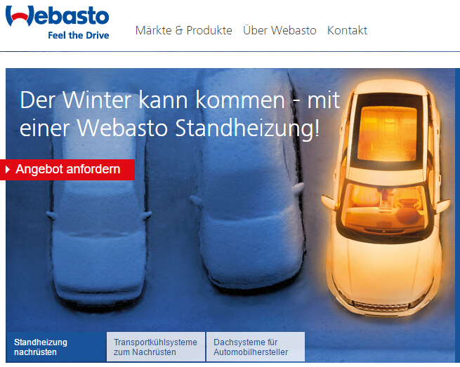 Webasto Website Visual Storytelling