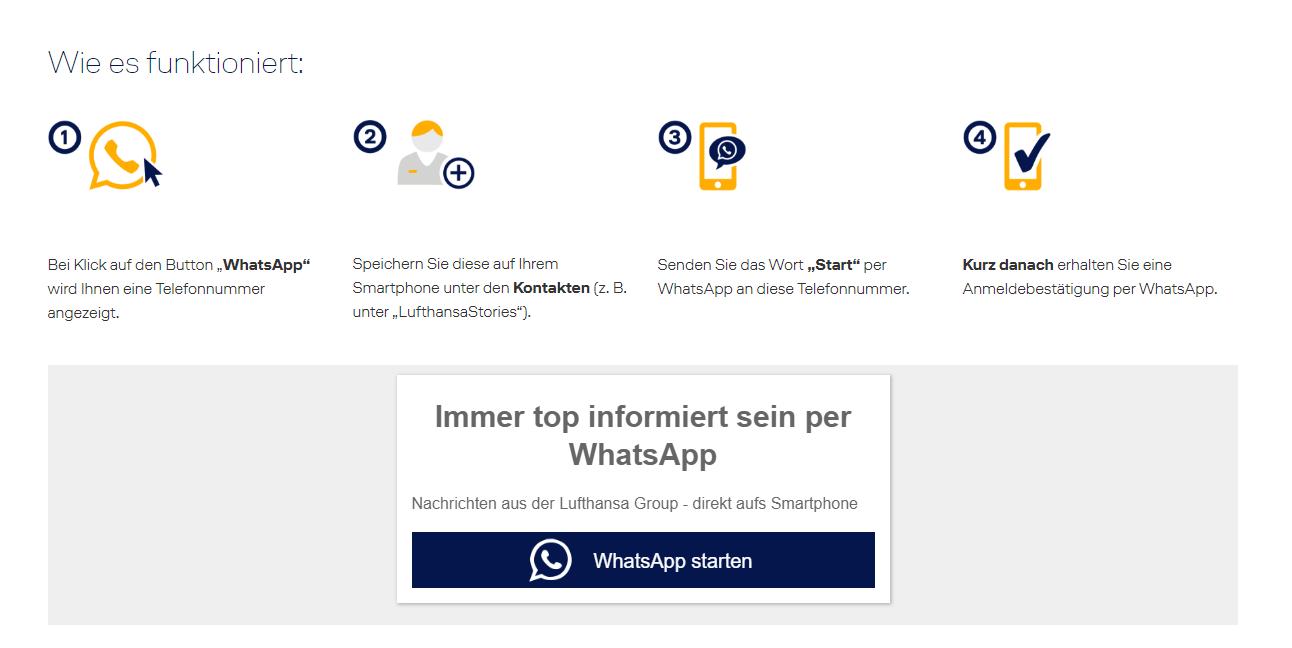 Whatsapp Service Lufthansa.com