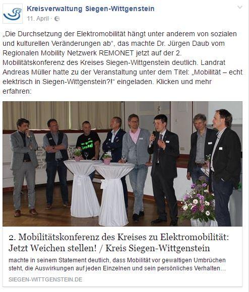 Dieser Facebook-Post der Kreisverwaltung Siegen-Wittgenstein ist nicht gelungen.